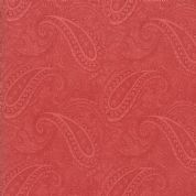 Moda - Porcelain - 3 Sisters - 6331 - Paisley in Red - 44192 16 - Cotton Fabric